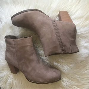 TAUPE FAUX SUEDE BOOTIE (WIDE WIDTH) torrid 11.5w